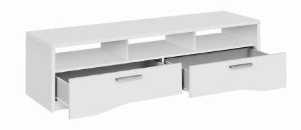 Palace Contemporary 2 Drawer TV Unit in White, Sawn Oak or Plum